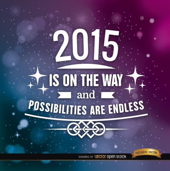 Free 2015 stars motivational background