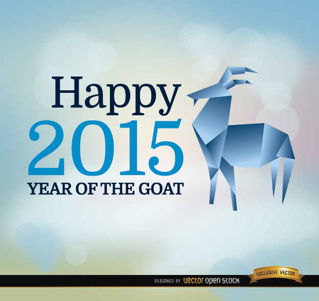 Free 2015 year goat origami background