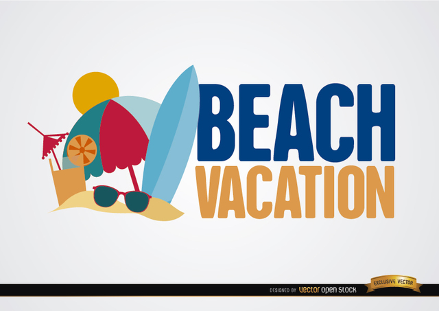 Free Beach vacation background