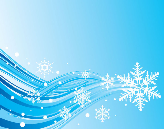 Free Simplistic Blue Wave & Snowflake Christmas Background