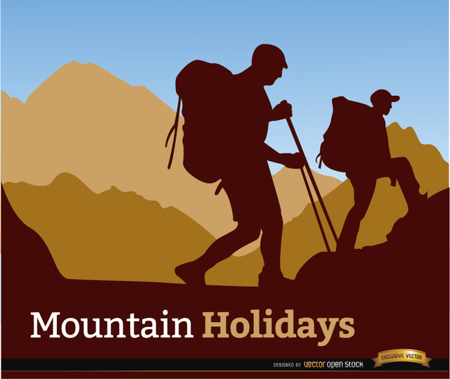 Free Mountaineering holidays background