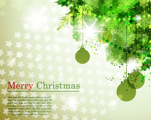 Free Tree Branch Corner Christmas Background
