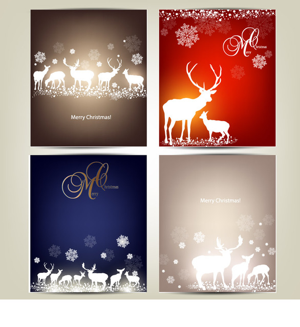 Free Template Christmas Card Pack