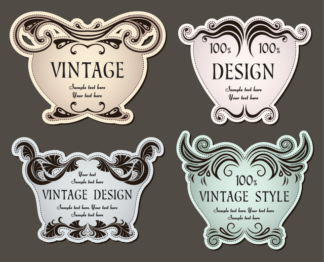 Free 4 Promotional Christmas Vintage Labels