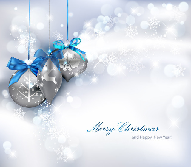 Free Shiny Silver Christmas Background