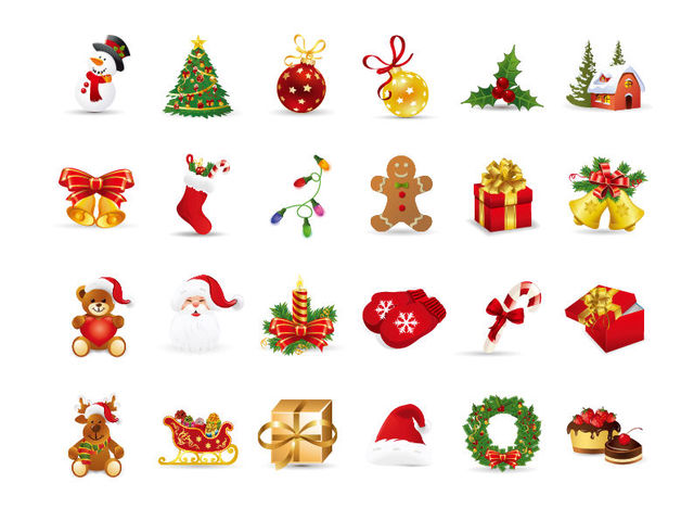Free Beautiful Funky Christmas Icon Pack