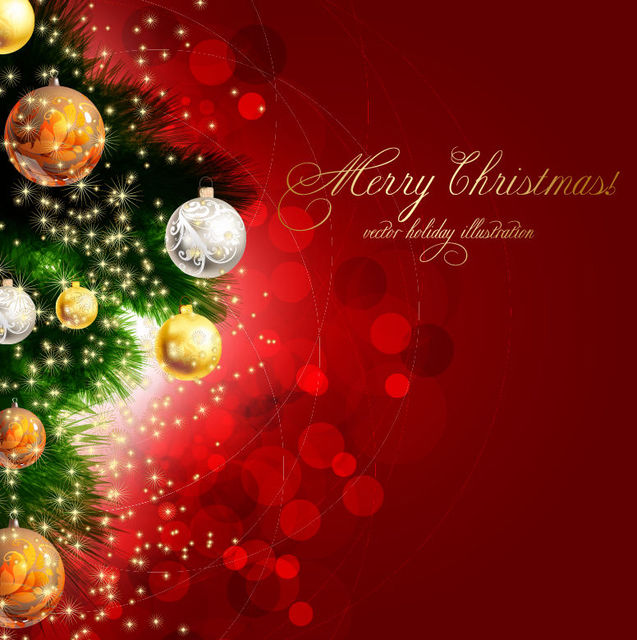 Free Bright Decorative Christmas Background