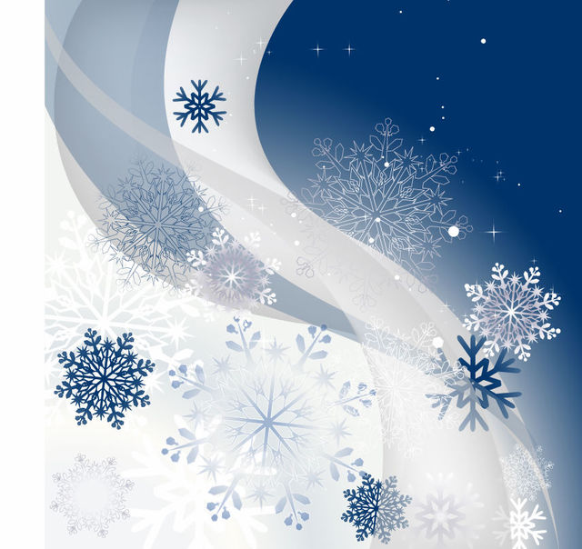Free Snowflakes & Waves Christmas Background
