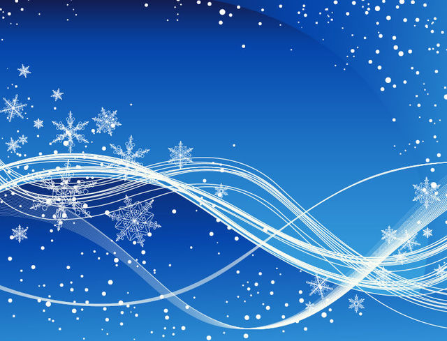 Free Swirling Blue Christmas Background with Snowflakes
