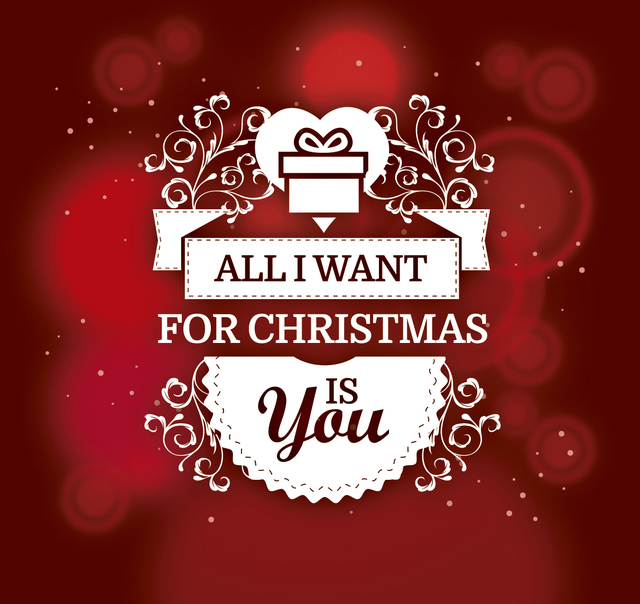 Free Romantic Christmas gift background