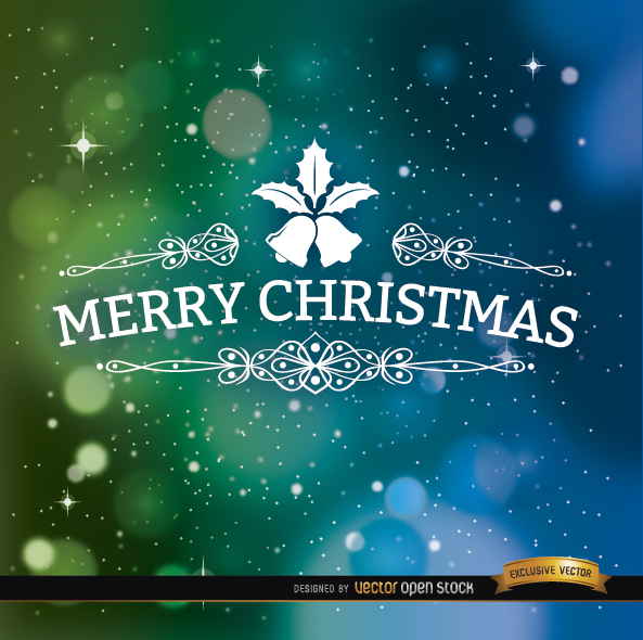 Free Merry Christmas space background