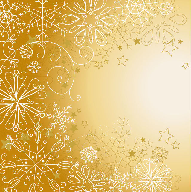 Free Snowflakes & Stars Linen Christmas Background