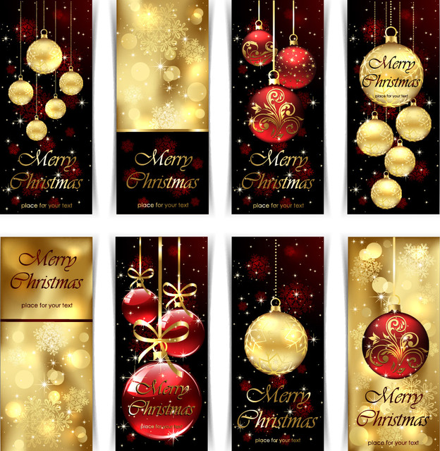 Free Creative Decorated Christmas Banner Pack