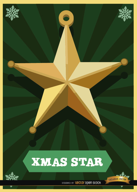 Free Christmas star card