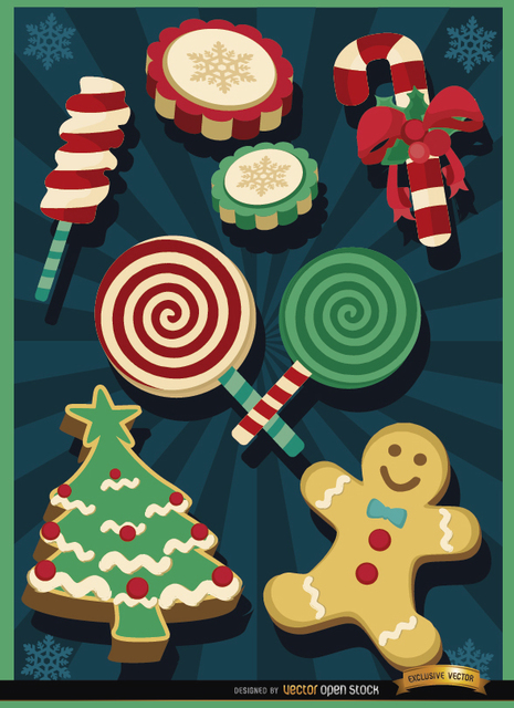 Free Christmas sweets elements