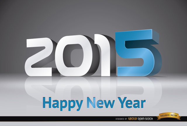 Free 2015 New Year modern number background