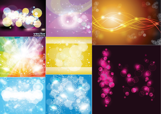 Free Shiny Abstract Colorful Background Set