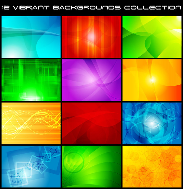 Free Beautiful Glowing Multicolor Creative Background Set