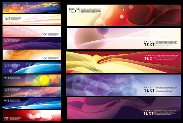 Free Abstract Creative Wide Banner Background Pack