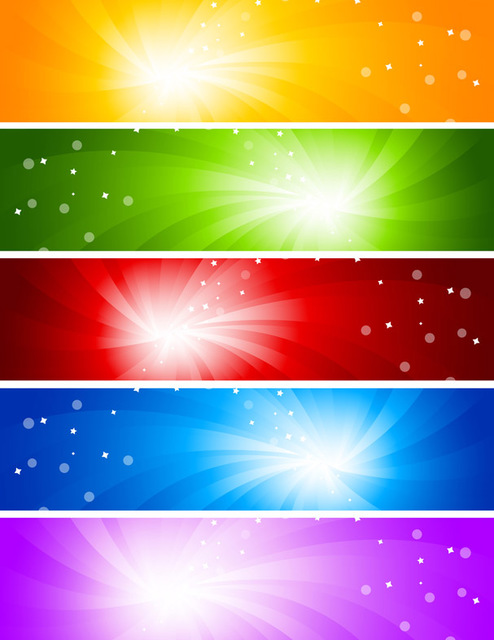 Free Multicolor Sun glare Banner Backgrounds