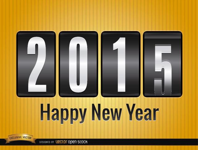 Free 2015 analog counter background