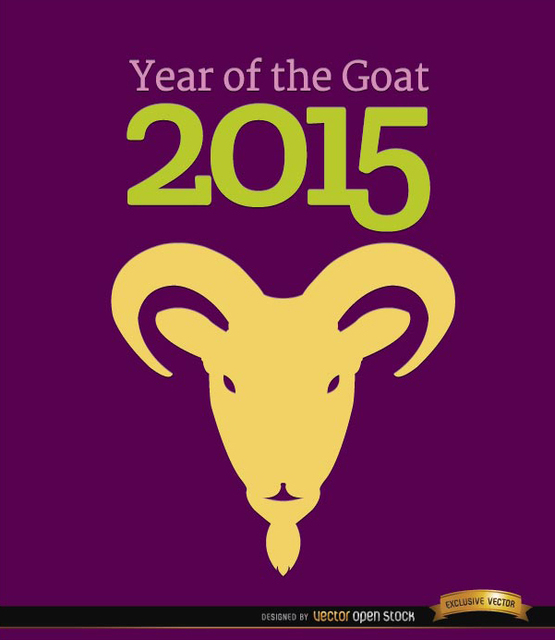 Free 2015 Year of Goat head background