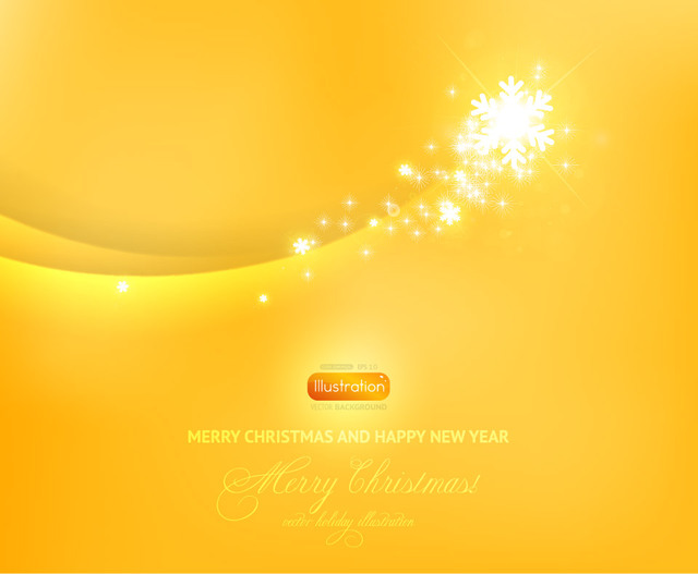Free Yellow Blended Curves Background with Sparkles