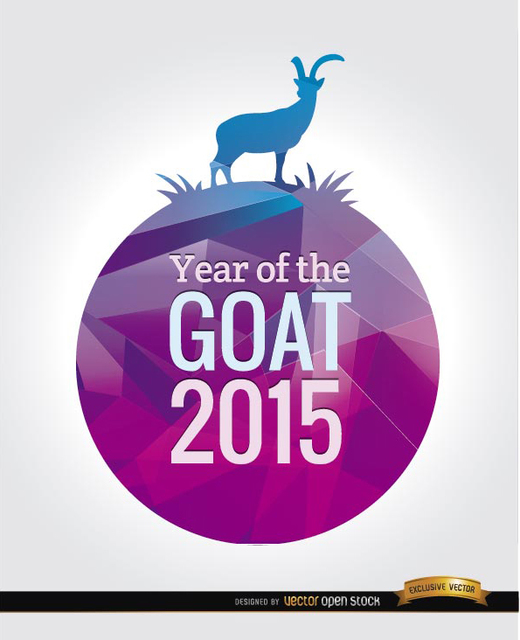 Free 2015 Year of the goat background