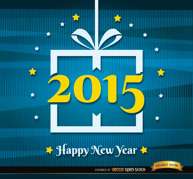 2015 New Year abstract lines background