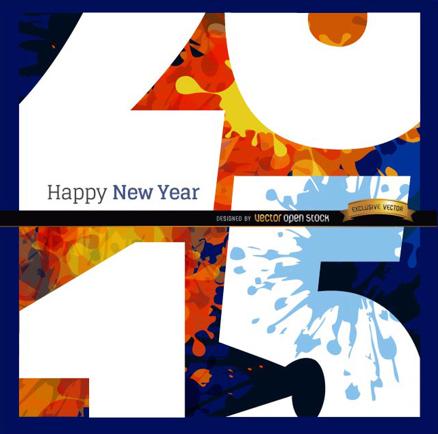 Free Happy 2015 grunge close view background