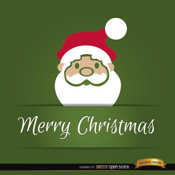 Free Santa Claus head Christmas card