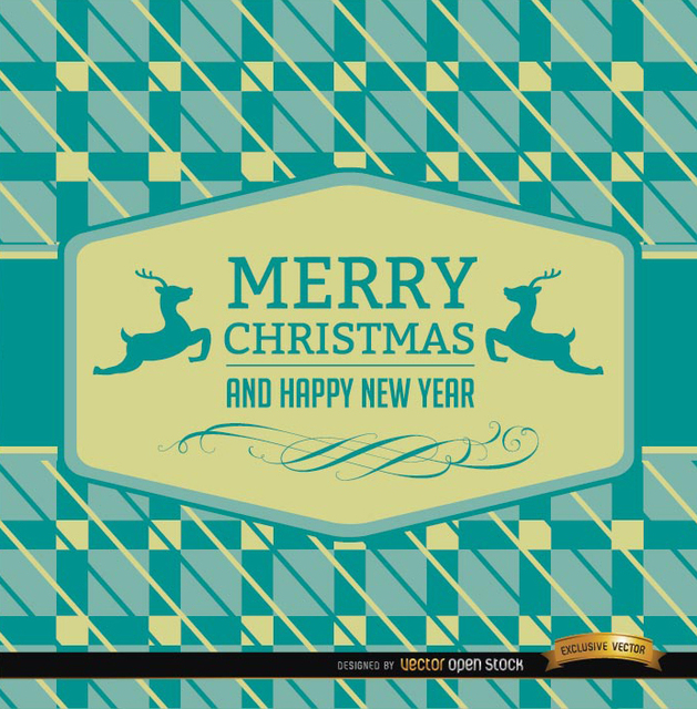 Free Christmas reindeer card abstract background