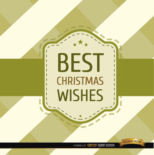 Free Christmas wishes stripes riband card