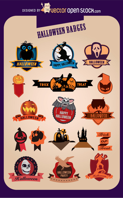 Free 17 Halloween Creative Badges