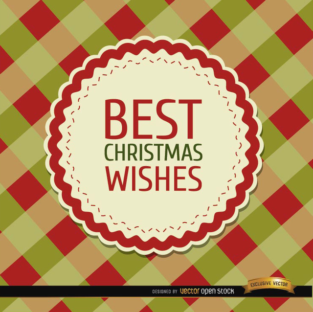 Free Christmas wishes rhombs background