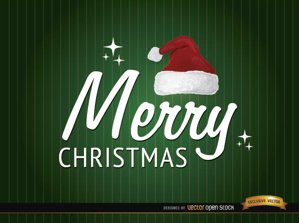 Free Merry Christmas hat background