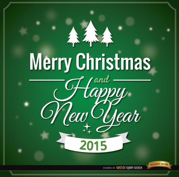 Free Green Merry Christmas card message