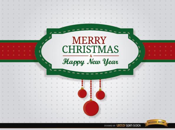 Free Merry Christmas riband card