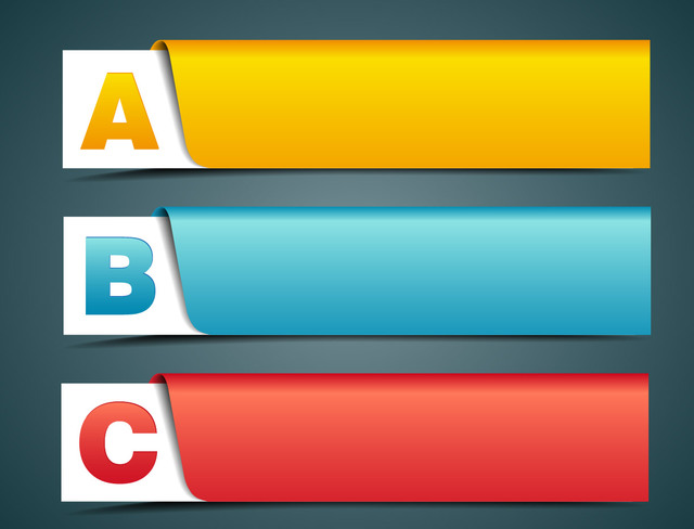 Free Creative Labeled Banner with Alphabets