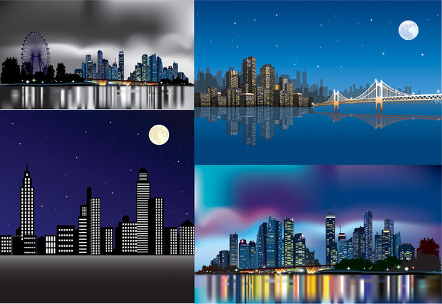 Free Beautiful Abstract City Pack in the Night