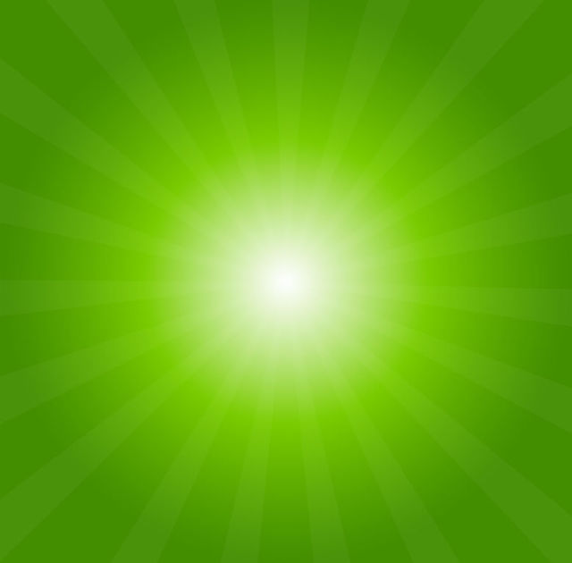 Free Shiny Green Sunburst Background
