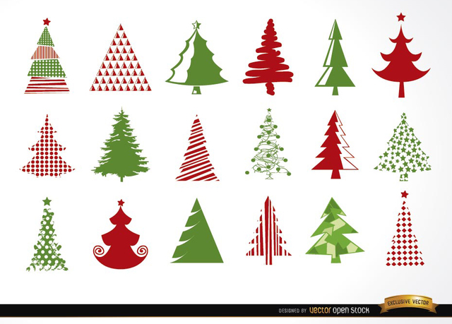 Free 18 Christmas tree icons