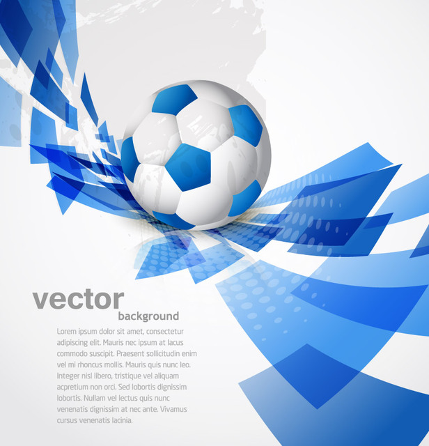 Free Blue Sport Background with Twisted Rectangles