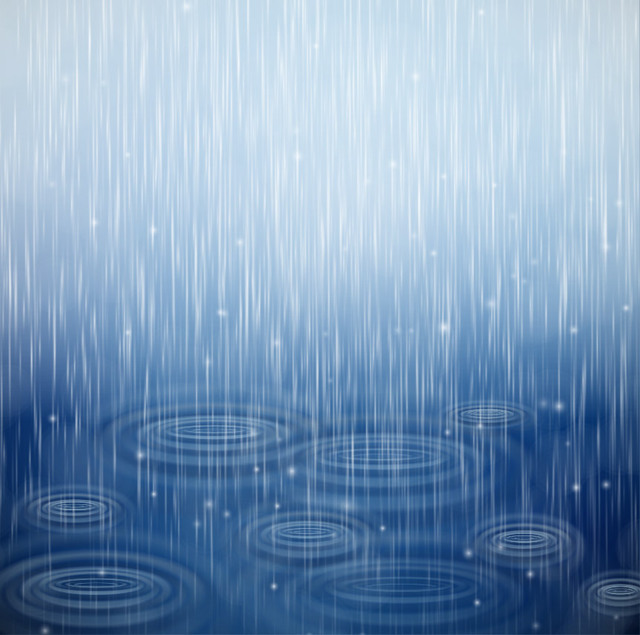 Free Realistic Raindrop Textured Blue Background