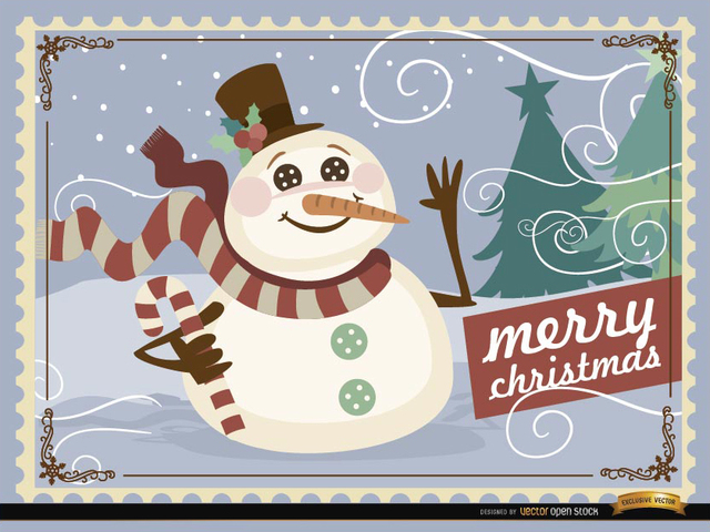Free Christmas Snowman background
