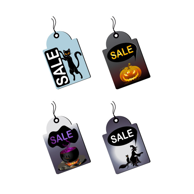 Free Promotional Halloween Sales Tag Set
