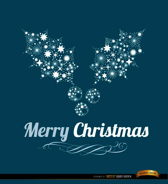 Free Merry Christmas mistletoe background