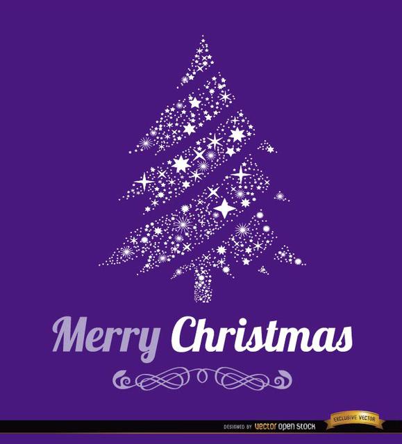 Free Merry Christmas tree background