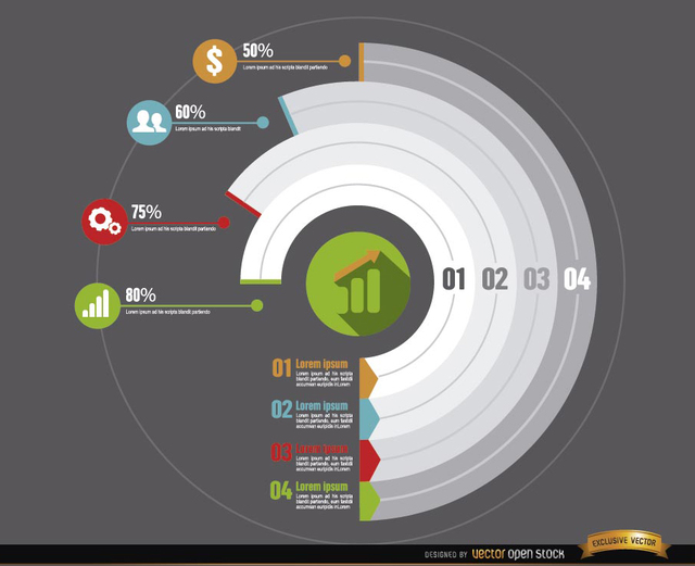 Free Circle infographics business development