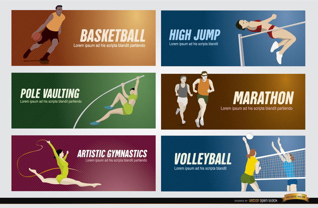 Free Olympic sports banners